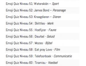 Antwoorden niveau 51 t:m 70